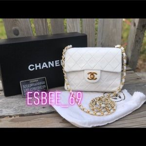Chanel✨Square quilted lamb leather crossbody bag